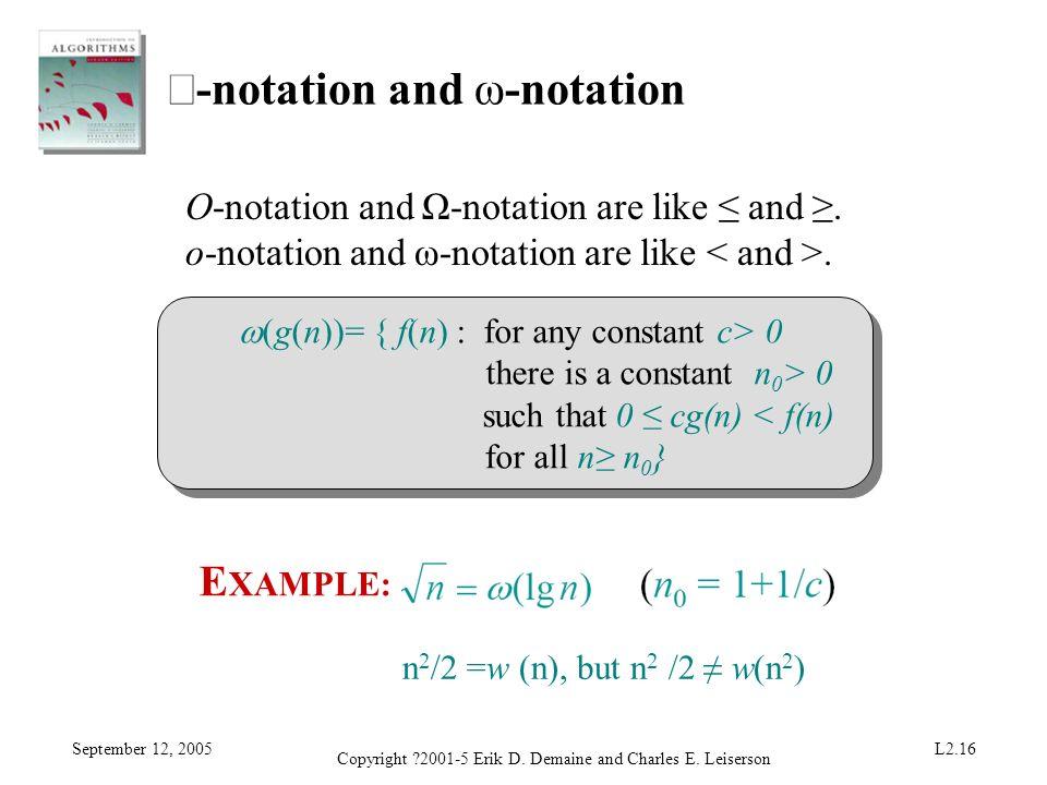 ο-notation and ω-notation