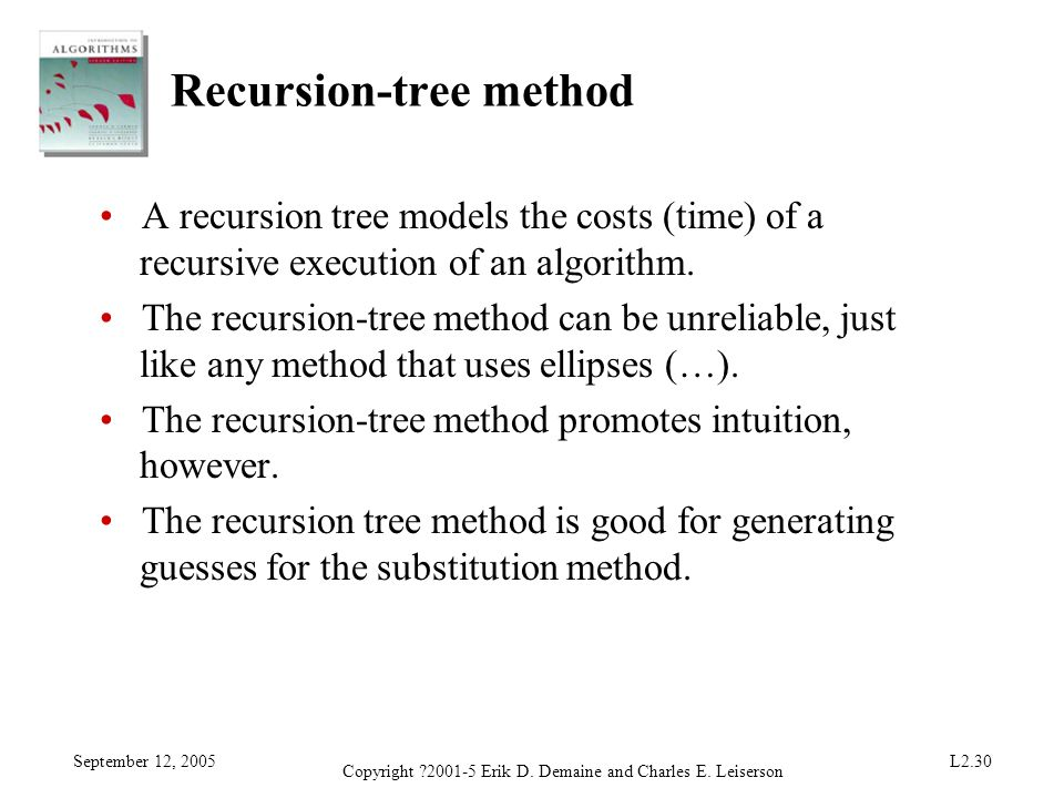 Recursion-tree method