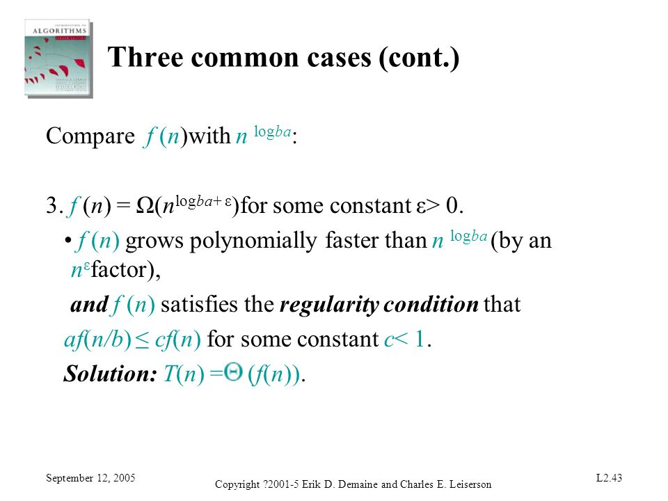 Three common cases (cont.)