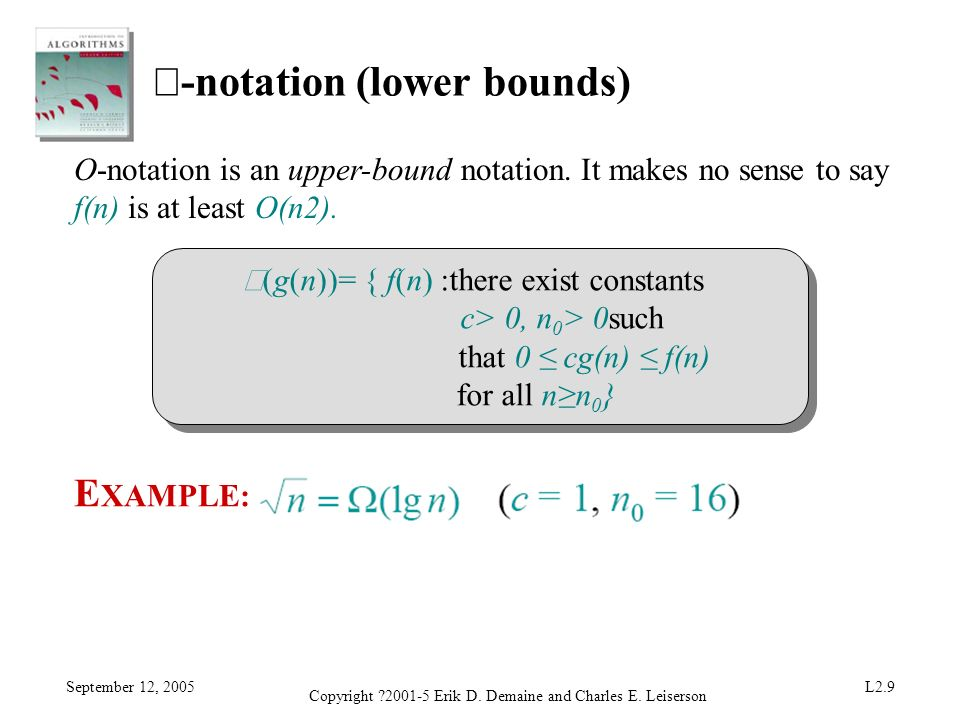 Ω-notation (lower bounds)