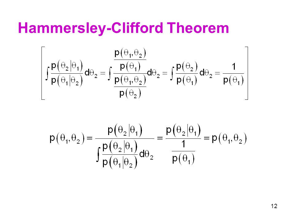 Hammersley-Clifford Theorem