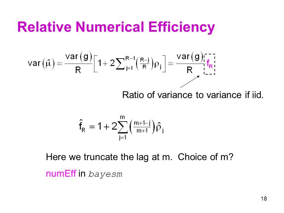 Relative Numerical Efficiency
