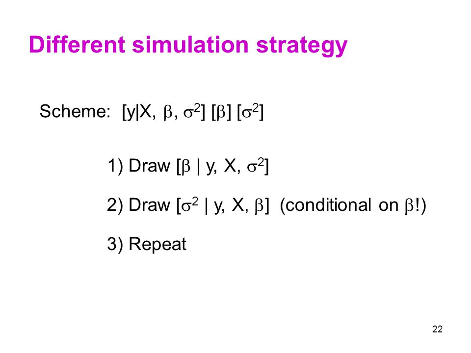 Different simulation strategy