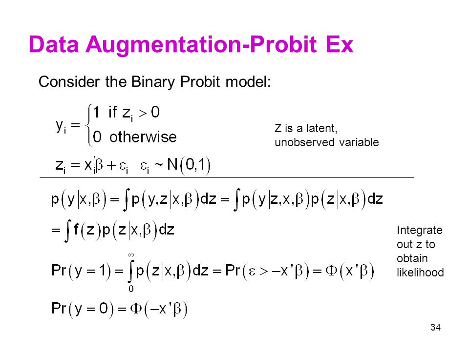 Data Augmentation-Probit Ex