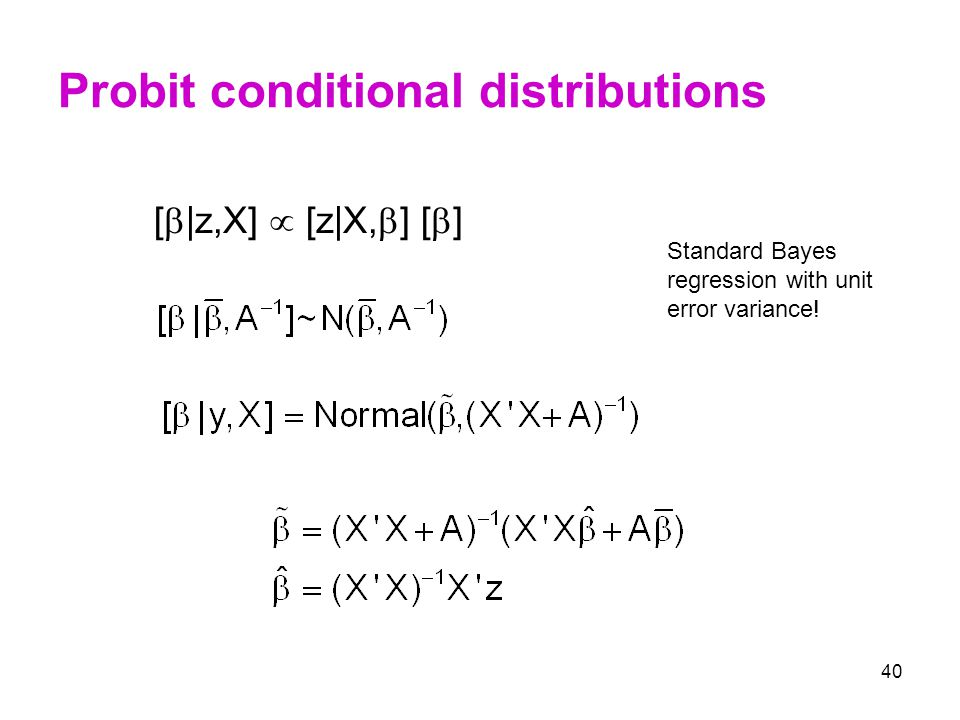 Probit conditional distributions