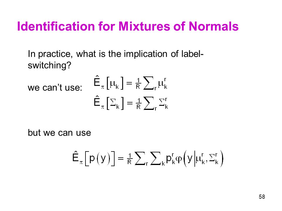 Identification for Mixtures of Normals