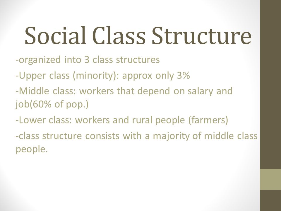 Social Class Structure
