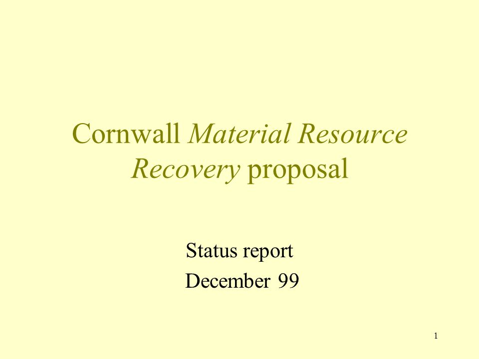 Cornwall Material Resource Recovery proposal