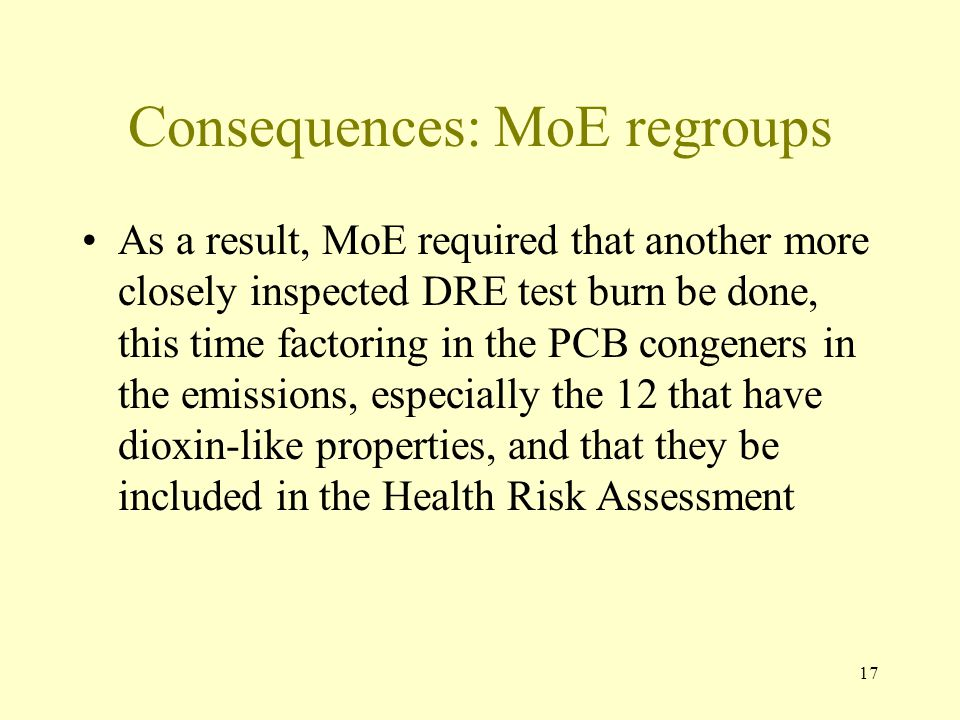 Consequences: MoE regroups