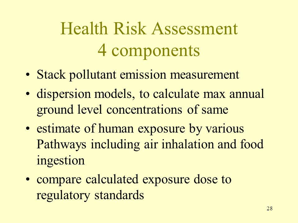 Health Risk Assessment 4 components