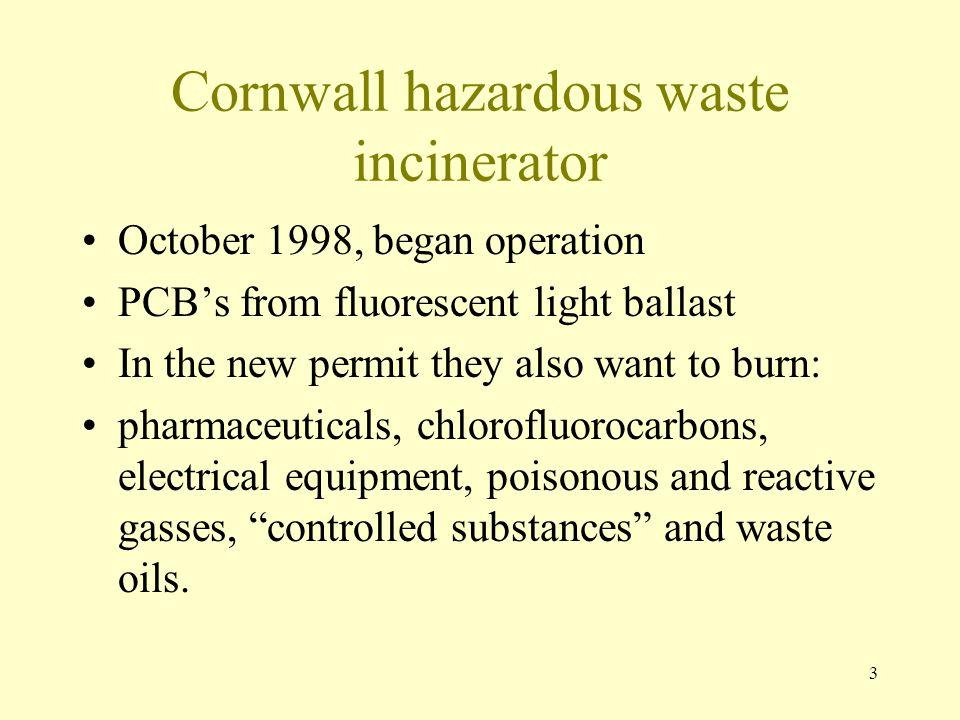 Cornwall hazardous waste incinerator