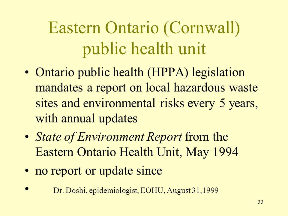 Eastern Ontario (Cornwall) public health unit