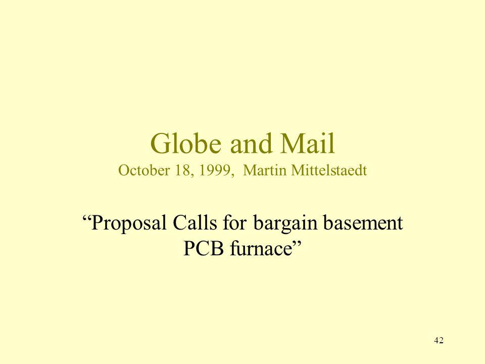 Globe and Mail October 18, 1999, Martin Mittelstaedt