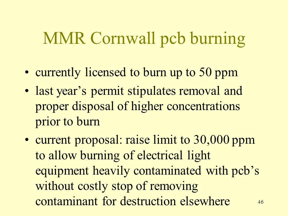 MMR Cornwall pcb burning