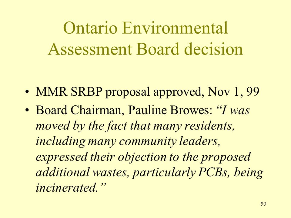 Ontario Environmental Assessment Board decision