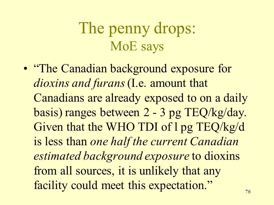 The penny drops: MoE says
