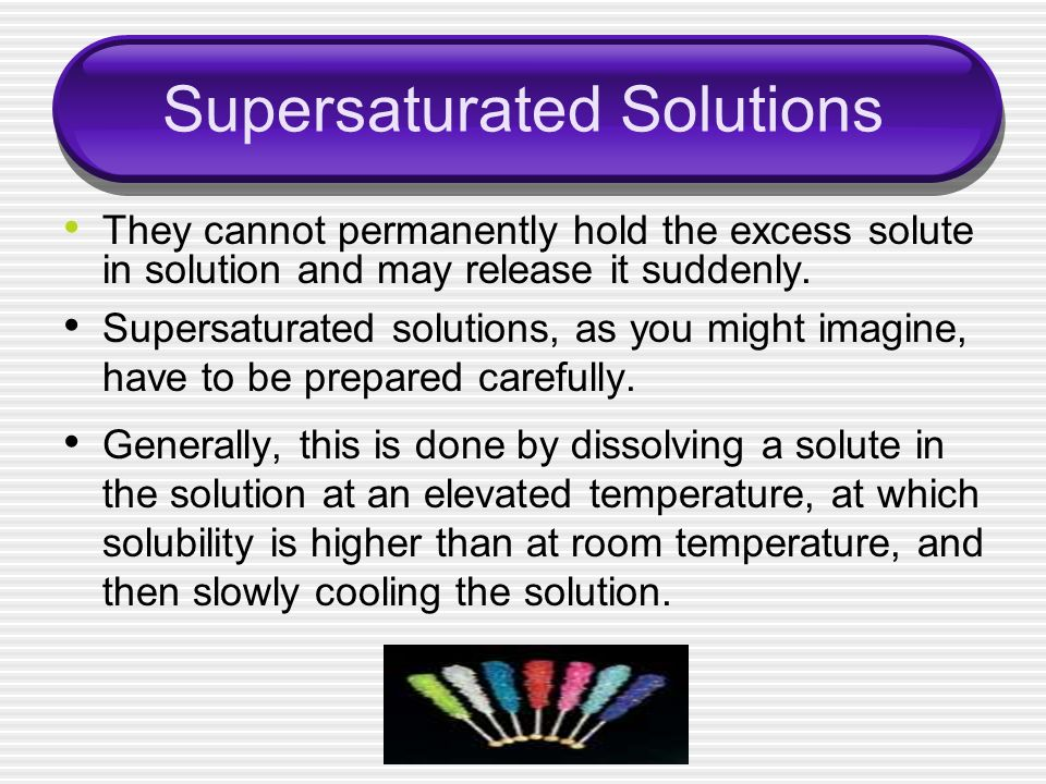 Supersaturated Solutions