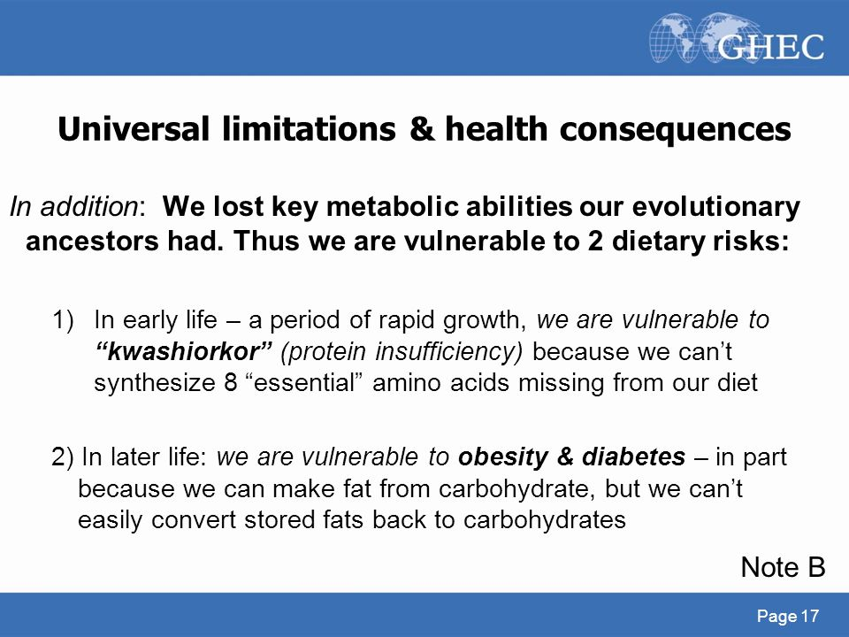 Universal limitations & health consequences