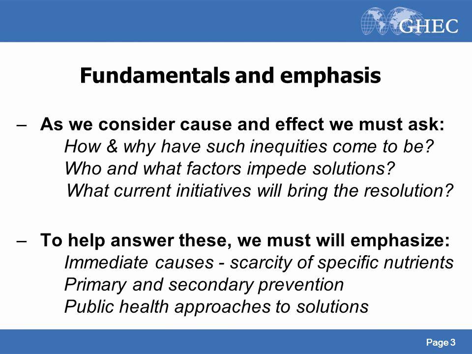 Fundamentals and emphasis