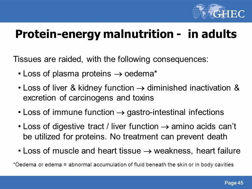 Protein-energy malnutrition - in adults