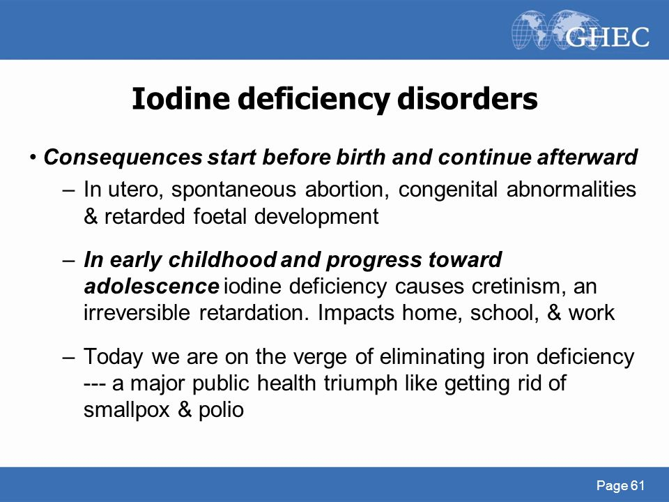 Iodine deficiency disorders