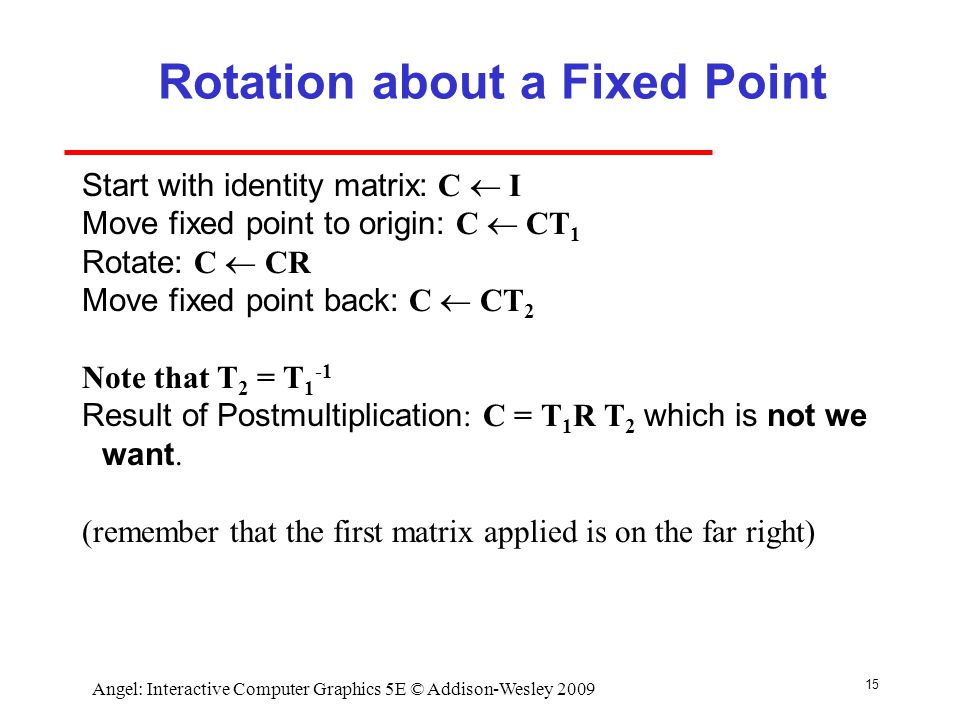 Rotation about a Fixed Point