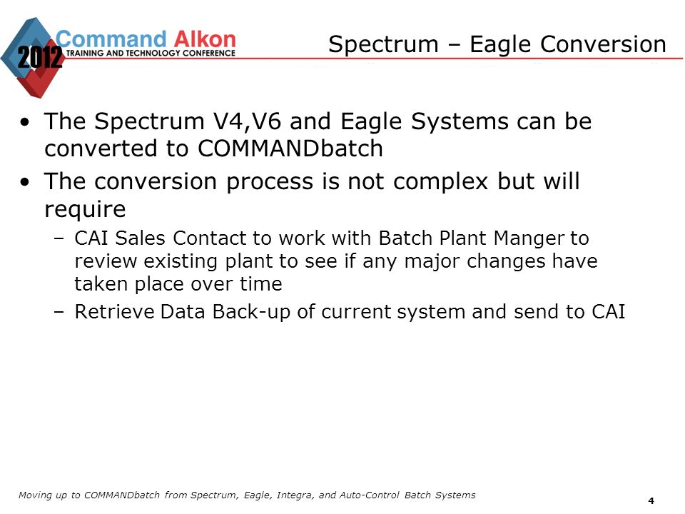 Spectrum – Eagle Conversion