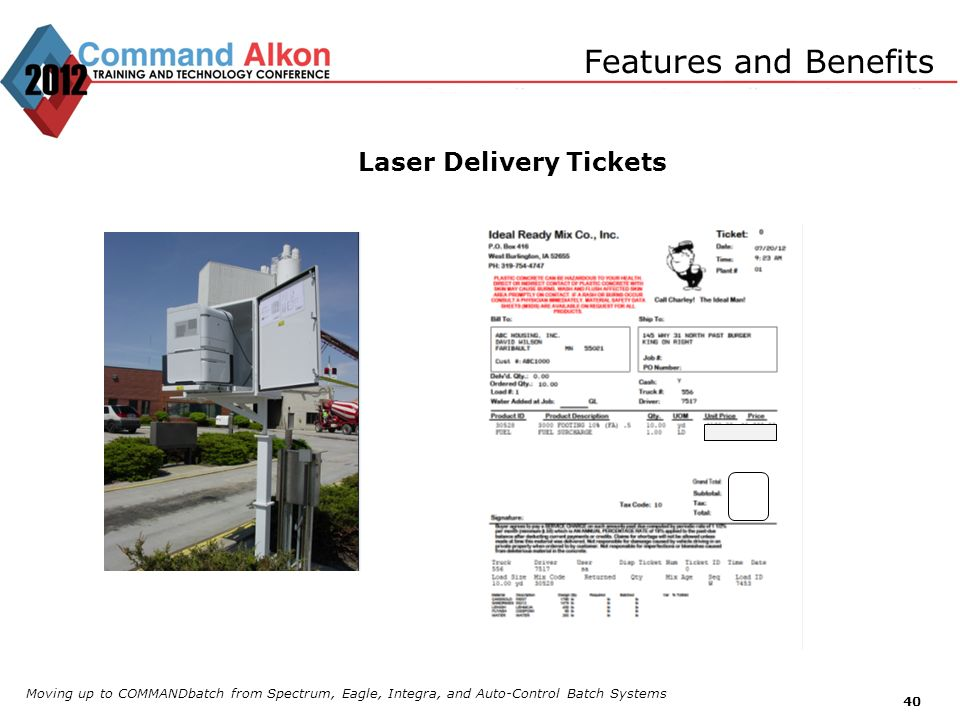 Laser Delivery Tickets