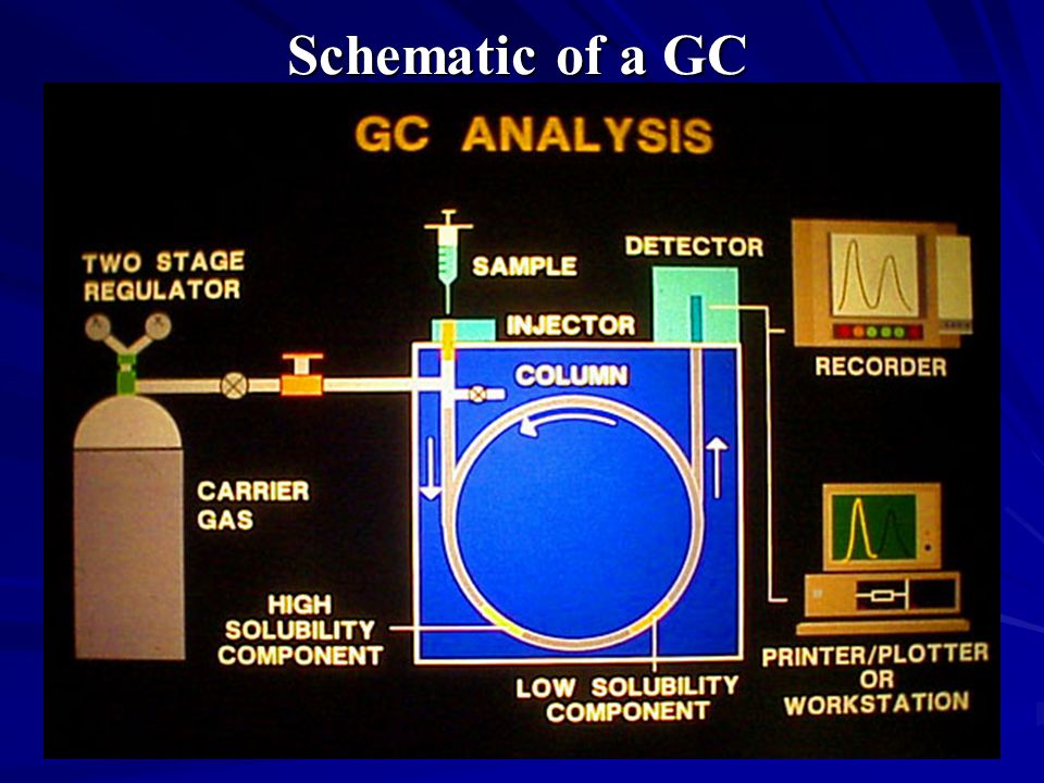 Schematic of a GC