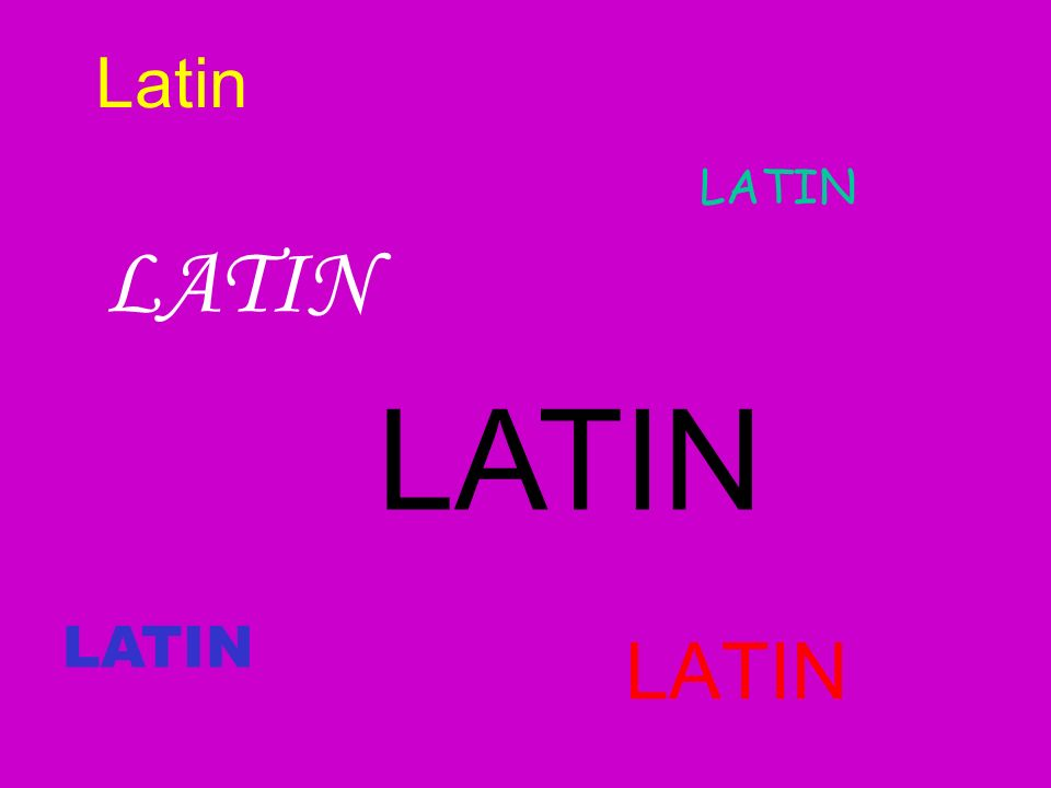 Latin LATIN LATIN LATIN LATIN LATIN