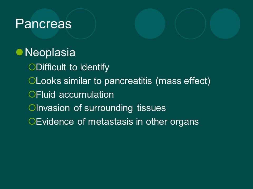 Pancreas Neoplasia Difficult to identify