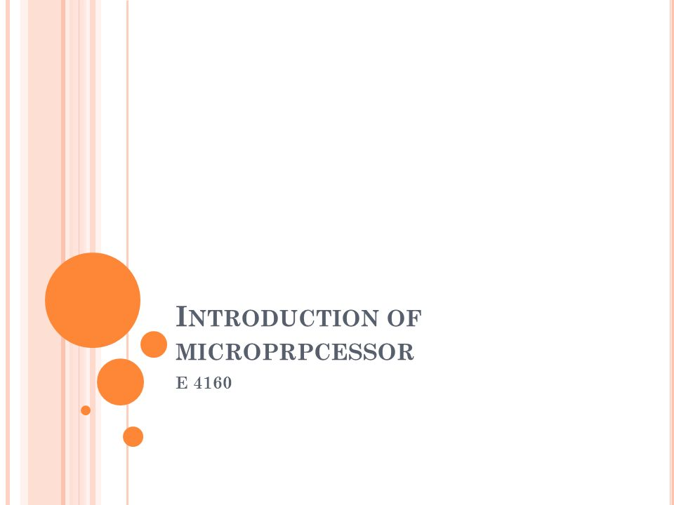 Introduction of microprpcessor