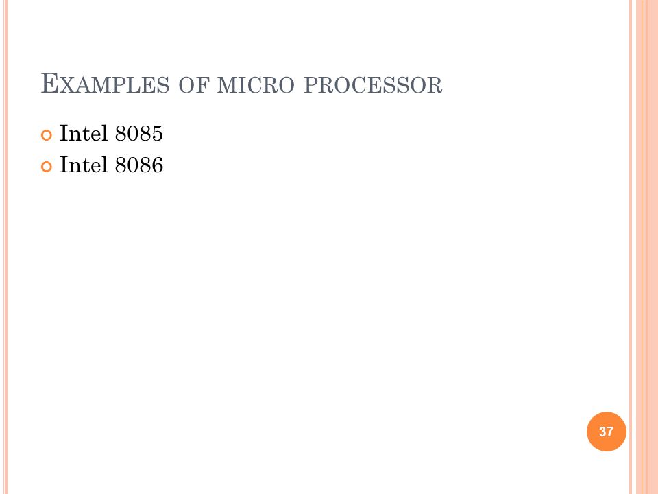 Examples of micro processor