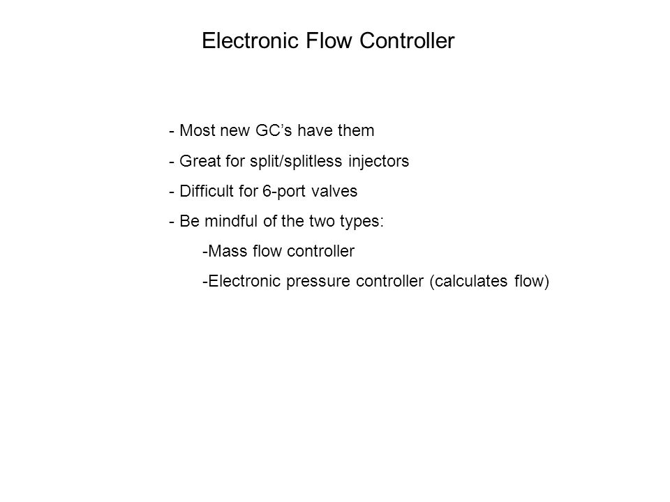 Electronic Flow Controller