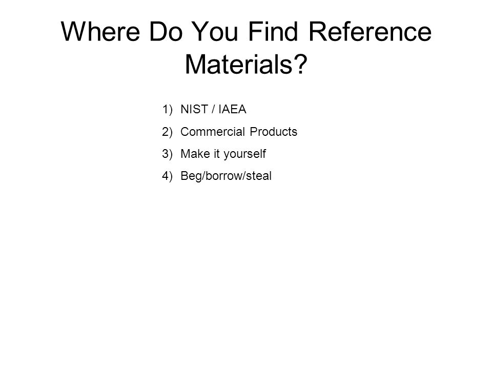 Where Do You Find Reference Materials