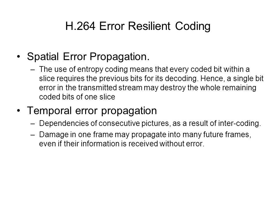 H.264 Error Resilient Coding