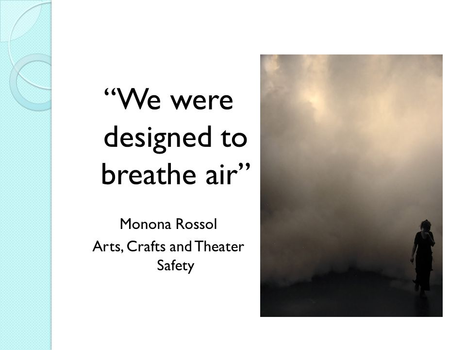 We were designed to breathe air
