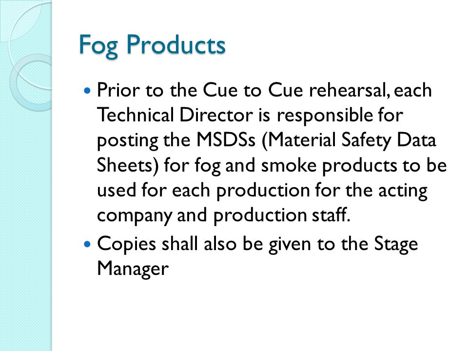 Fog Products