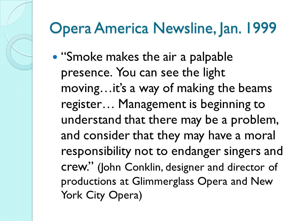 Opera America Newsline, Jan. 1999