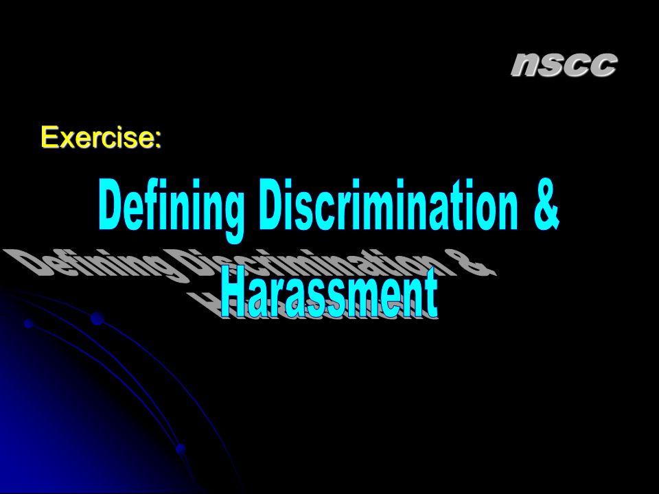 Defining Discrimination &