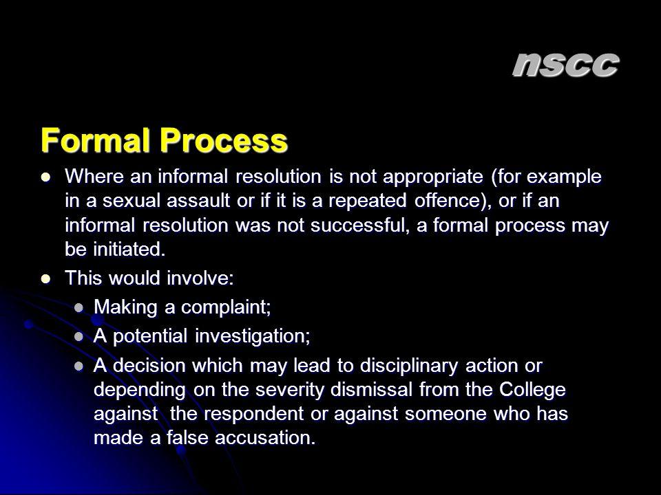 nscc Formal Process.