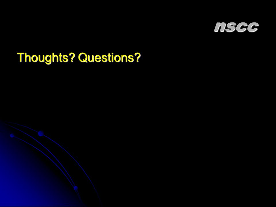 nscc Thoughts Questions