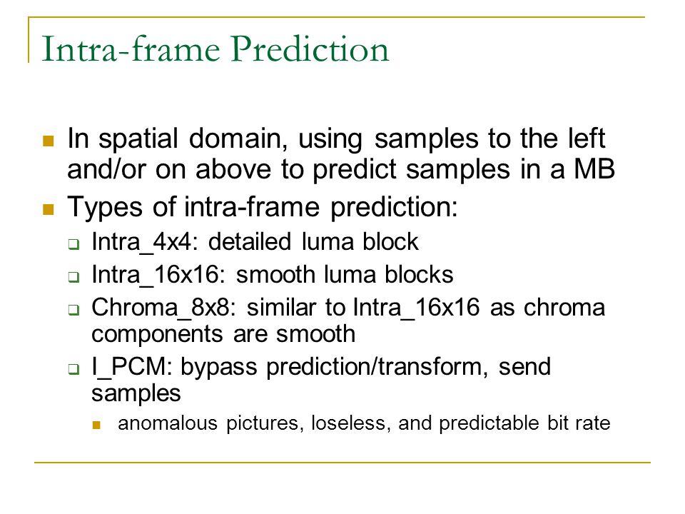 Intra-frame Prediction