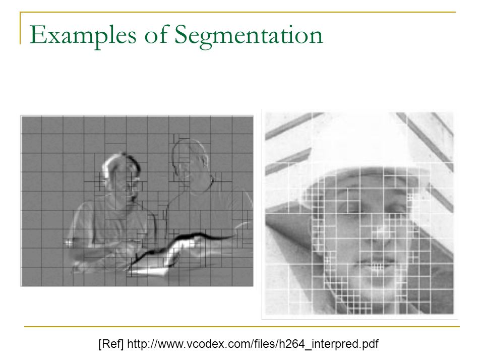 Examples of Segmentation