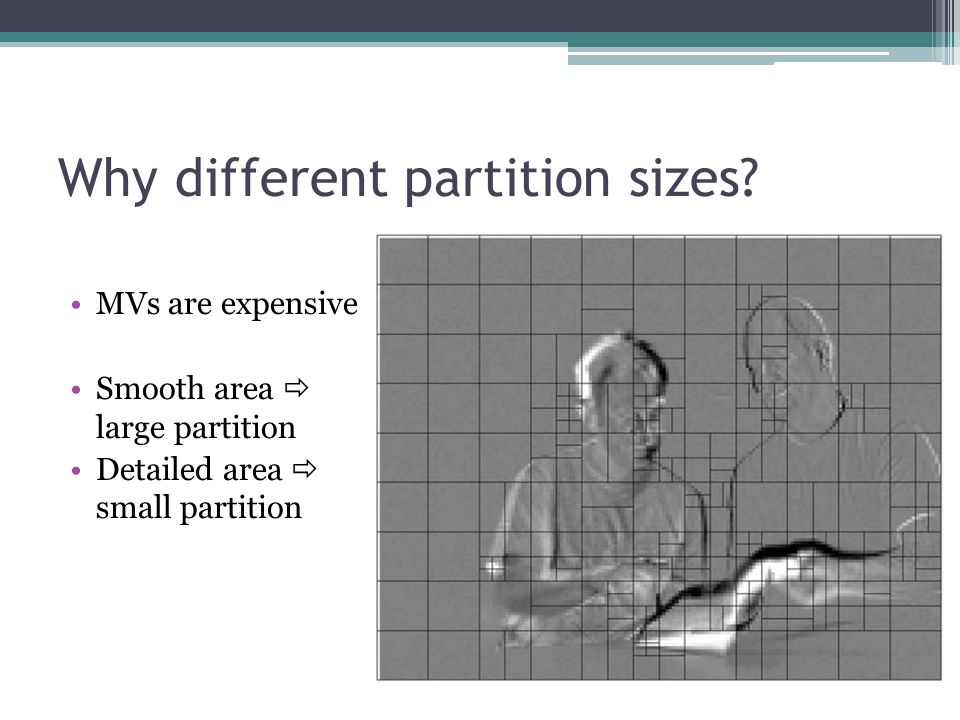 Why different partition sizes