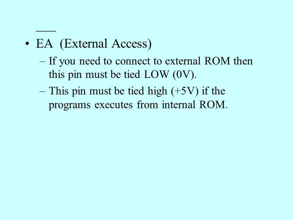 ___ EA (External Access)
