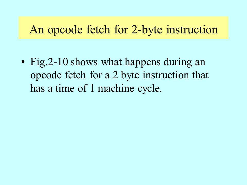 An opcode fetch for 2-byte instruction