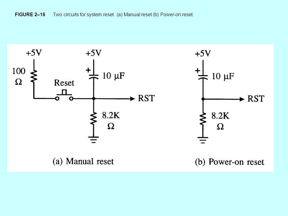 FIGURE 2–16 Two circuits for system reset
