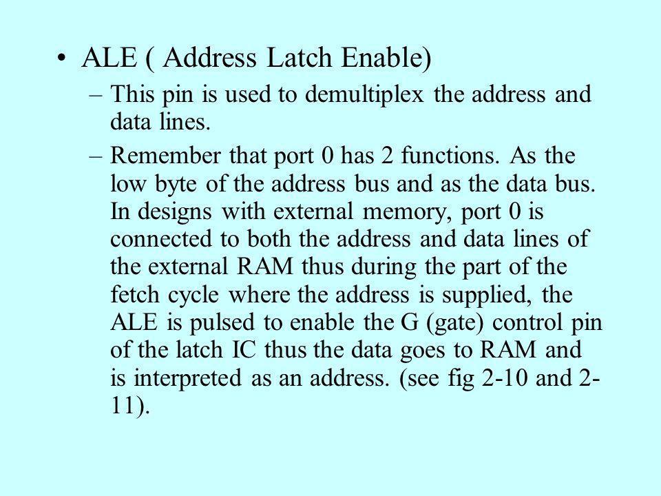 ALE ( Address Latch Enable)