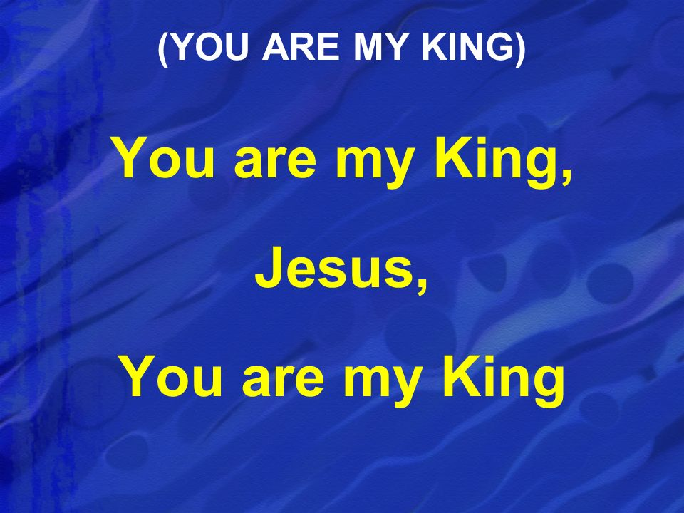 You are my King, Jesus, You are my King
